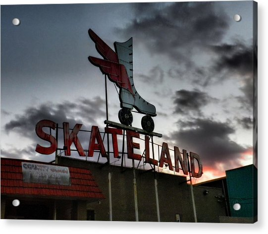 Memphis - Skateland 001 Acrylic Print