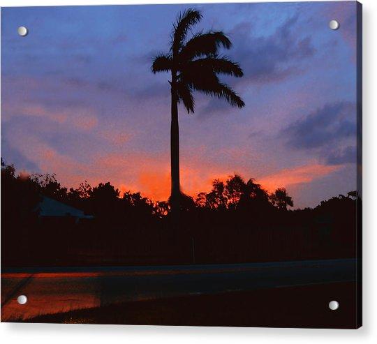 Miami Sunset Acrylic Print