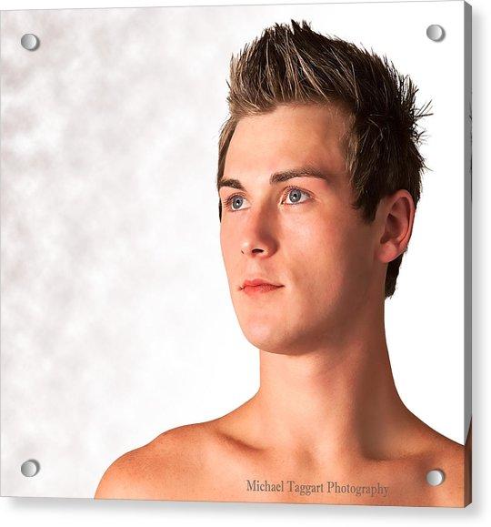 Michael Phelps Blue Eyes Acrylic Print