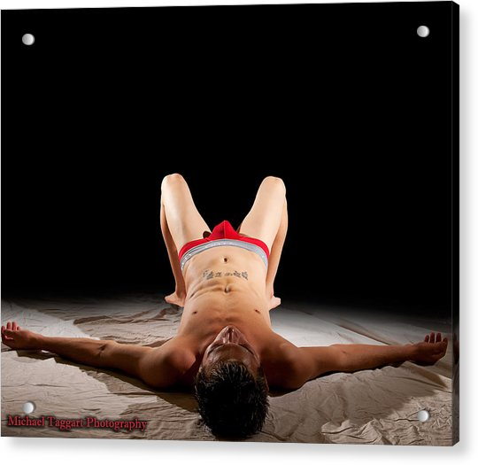 Acrylic Print featuring the photograph Michael Phelps Spotlight by Michael Taggart