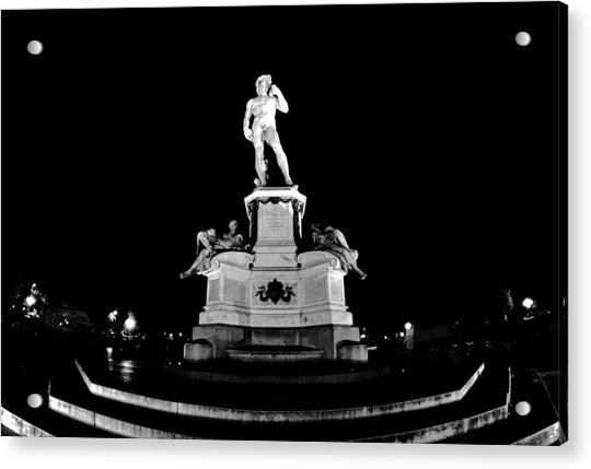 Michelangelo At Night Acrylic Print
