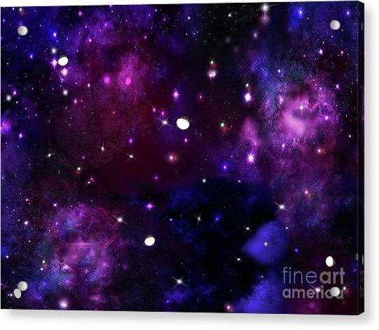 Midnight Blue Purple Galaxy Acrylic Print