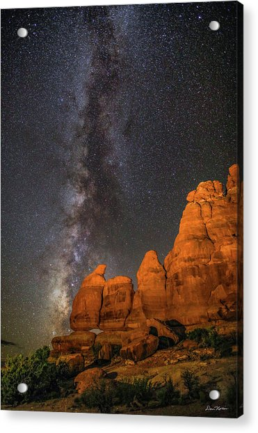 Milky Way And Navajo Rocks Acrylic Print