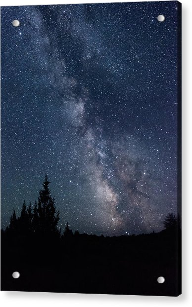 Milky Way At Eastern Oregon Wilderness Acrylic Print
