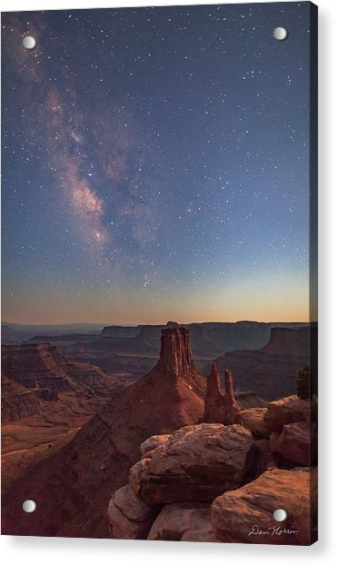 Milky Way At Twilight - Marlboro Point Acrylic Print