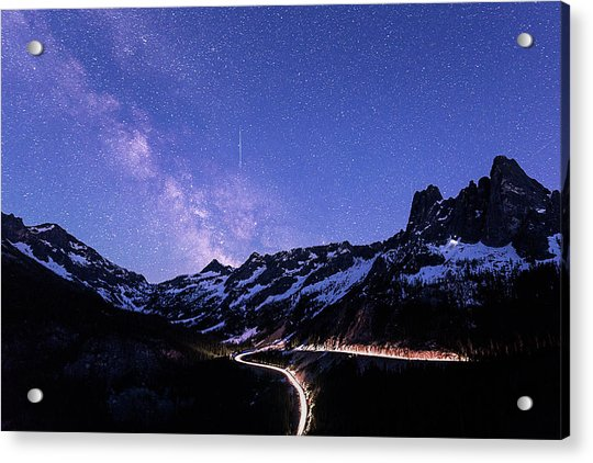 Milky Way At Washington Pass Acrylic Print