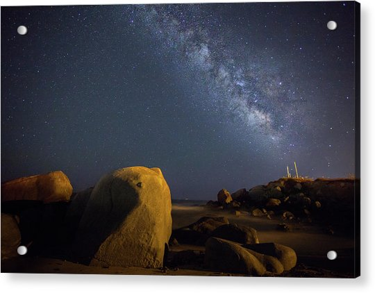 Milky Way On The Beach Acrylic Print