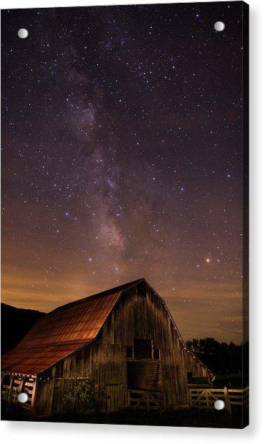 Milky Way Over Boxley Barn Acrylic Print