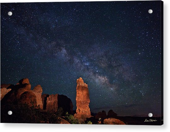 Milky Way Over Garden Of Eden Acrylic Print