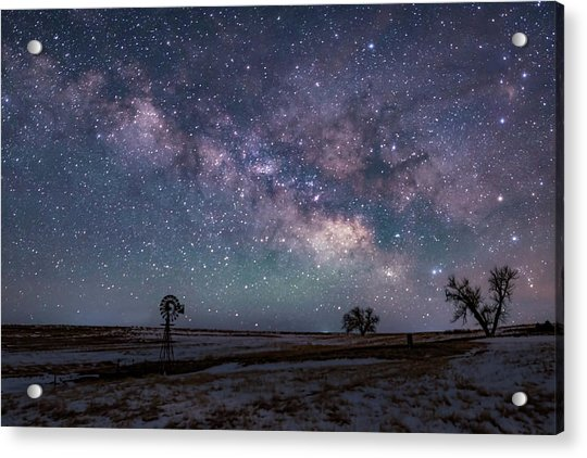 Milky Way Over The Prairie Acrylic Print