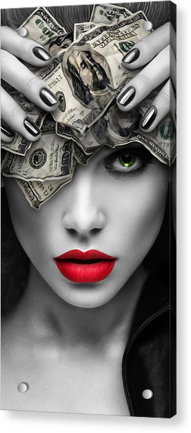 Mind On The Money Acrylic Print