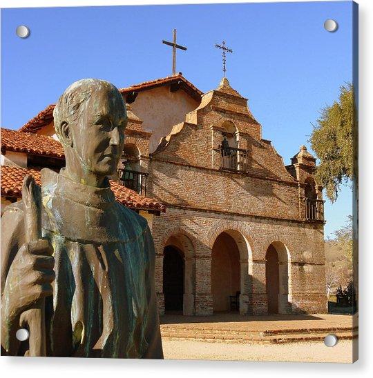 Mission San Antonio And Father Serra Acrylic Print
