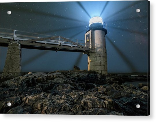 Mist At Marshall Point Light Acrylic Print