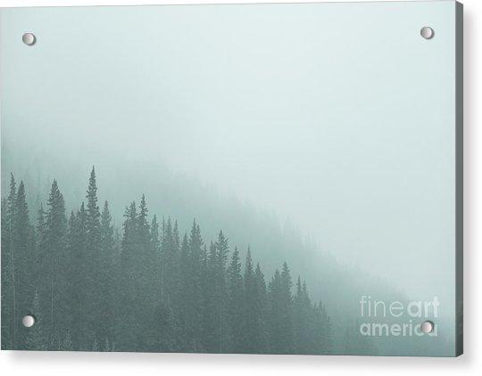 Mist On The Morning Hills Acrylic Print