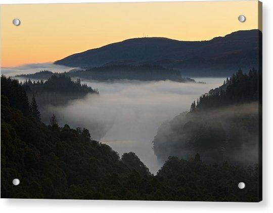 Mist Over Loch Achray Acrylic Print