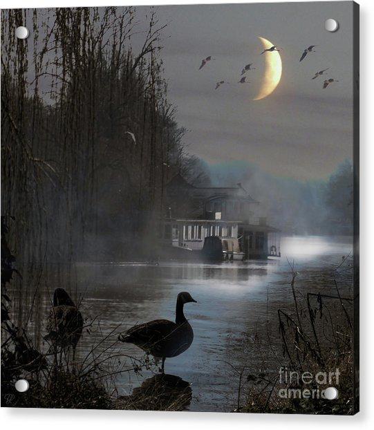 Misty Moonlight Acrylic Print