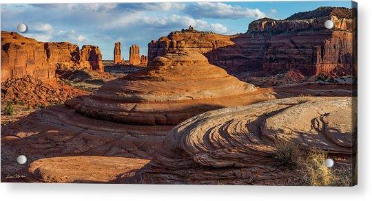 Moab Back Country Panorama 2 Acrylic Print