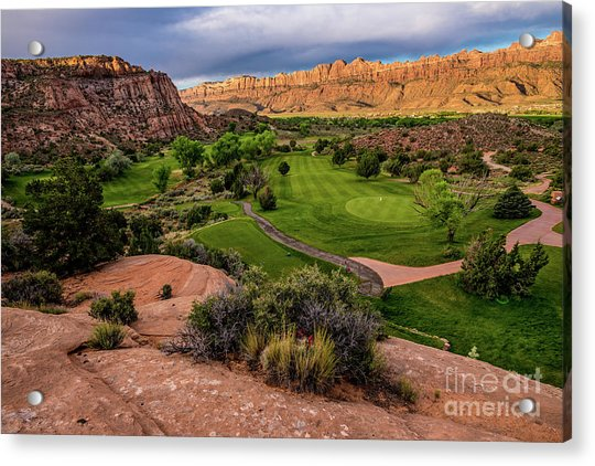 Moab Desert Canyon Golf Course At Sunrise Acrylic Print