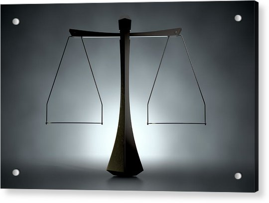 Modern Scales Of Justice Acrylic Print