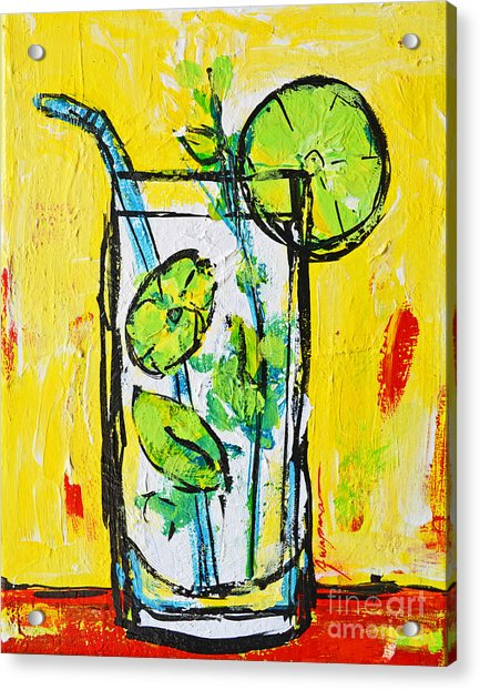 Mojito - Latin Tropical Drink Modern Art Acrylic Print