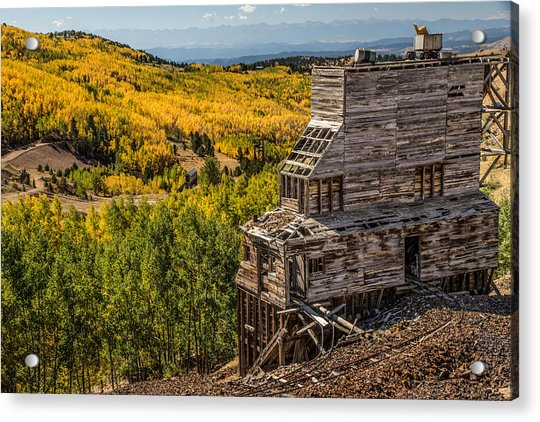 Mollie Kathleen Gold Mine In Autumn Acrylic Print