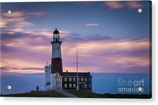 Montauk Lighthousepastel  Sunrise Acrylic Print