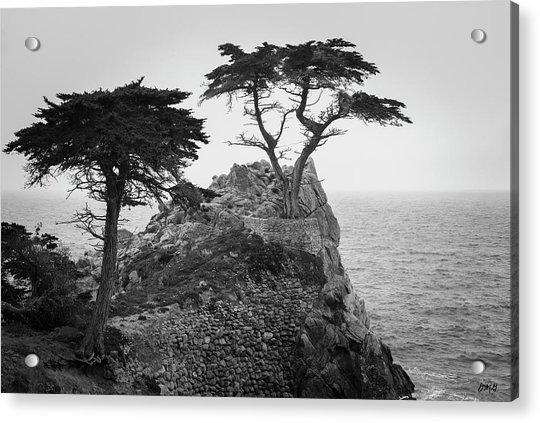 Monterey Peninsula II Bw Acrylic Print