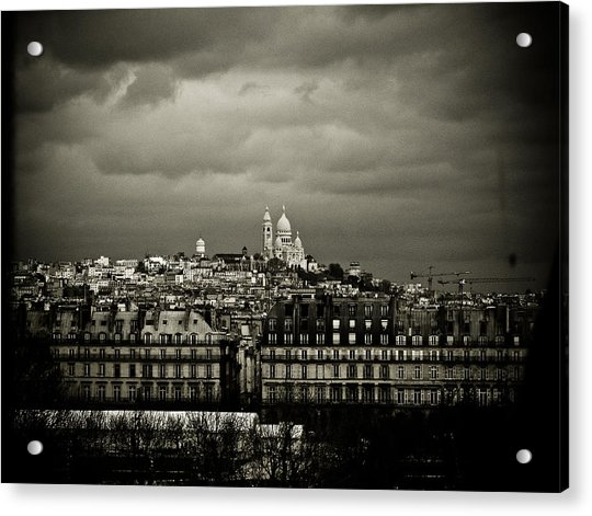 Montmartre Black And White Acrylic Print