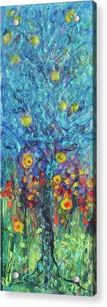Moon Flowers Acrylic Print