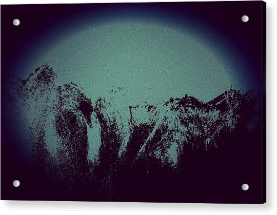 Moon In The Mountains Acrylic Print