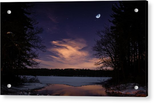 Moon Lake Acrylic Print