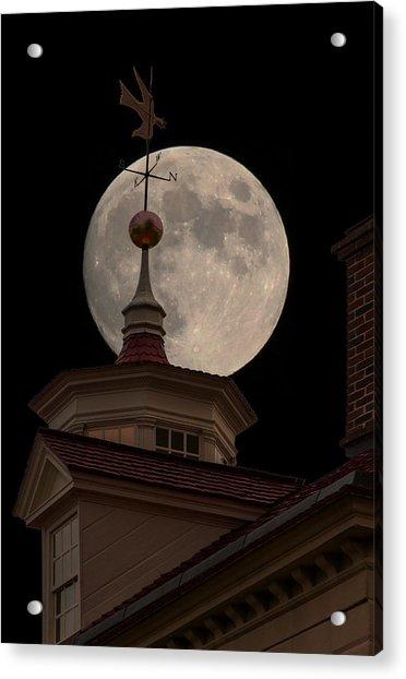 Moon Over Mount Vernon Acrylic Print