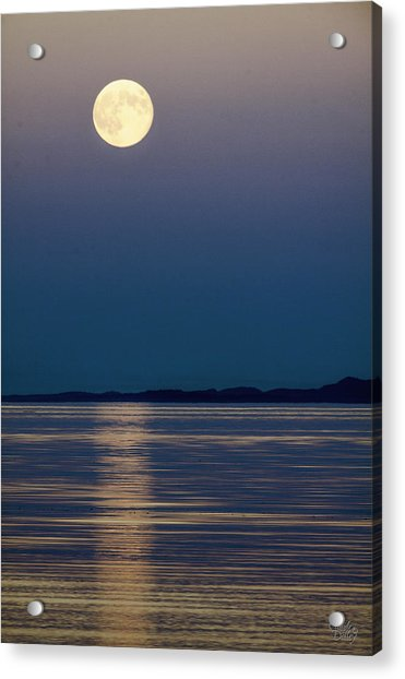 Moon Over Water Acrylic Print
