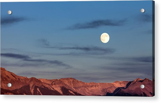 Moonrise With Afterglow Acrylic Print