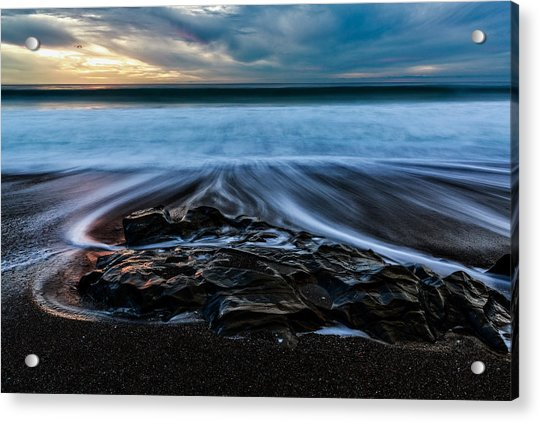 Moonstone Beach In The New Year Acrylic Print