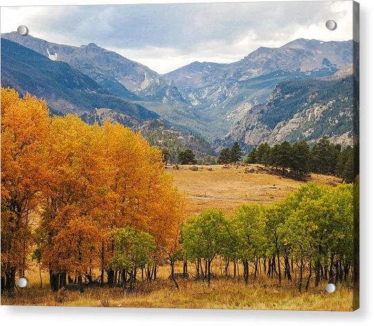 Moraine Park In Rocky Mountain National Park Acrylic Print