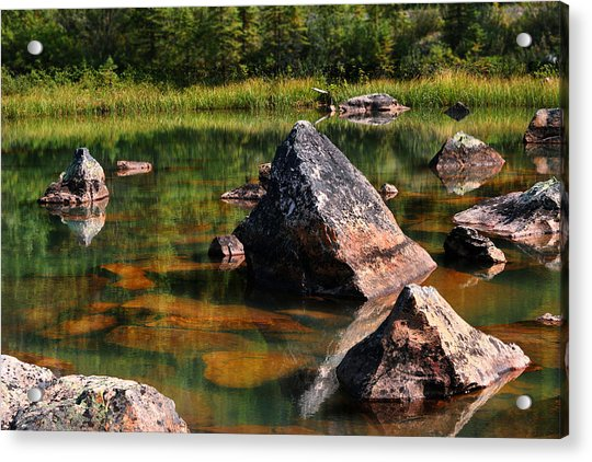 More Pink Rocks Acrylic Print