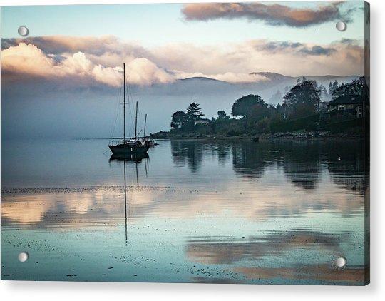 Morning Fog Is Lifting-2 Acrylic Print