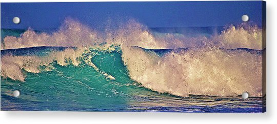 Morning Light On Breaking Waves Acrylic Print