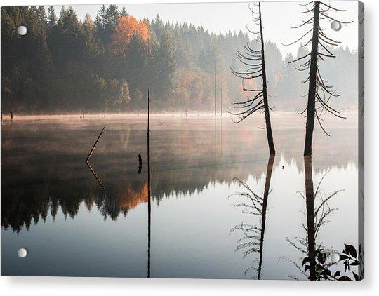 Morning Mist On A Quiet Lake Acrylic Print