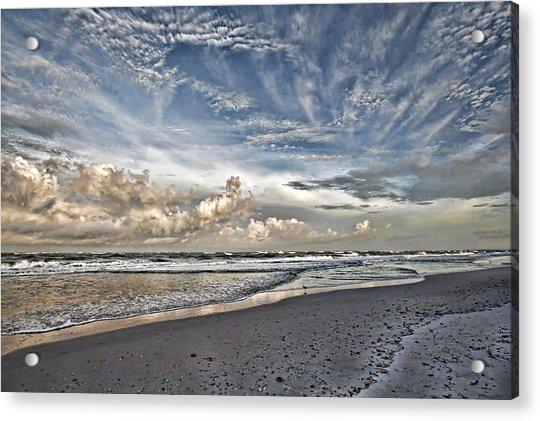 Morning Sky At The Beach Acrylic Print