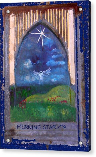 Morning Star Folk Art Acrylic Print
