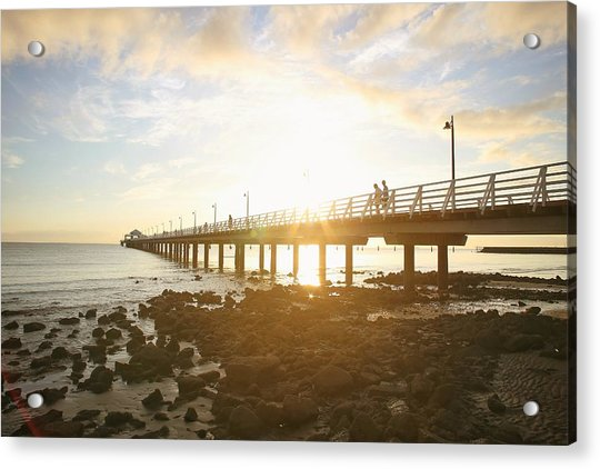 Morning Sunshine At The Pier  Acrylic Print