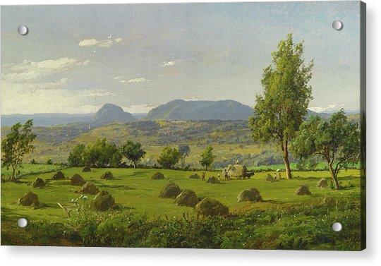 Mount Adam And Eve. Haymaking  Acrylic Print