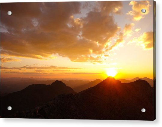 Mount Evans Sunset Acrylic Print