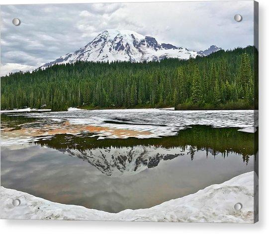 Mount Rainier From Reflection Lakes Acrylic Print