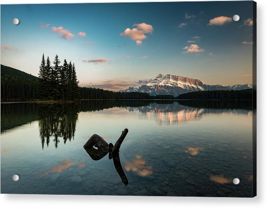 Mount Rundle And Two Jack Lake Acrylic Print