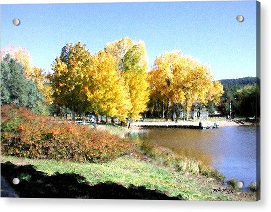 Mountain Lake Autumn Acrylic Print