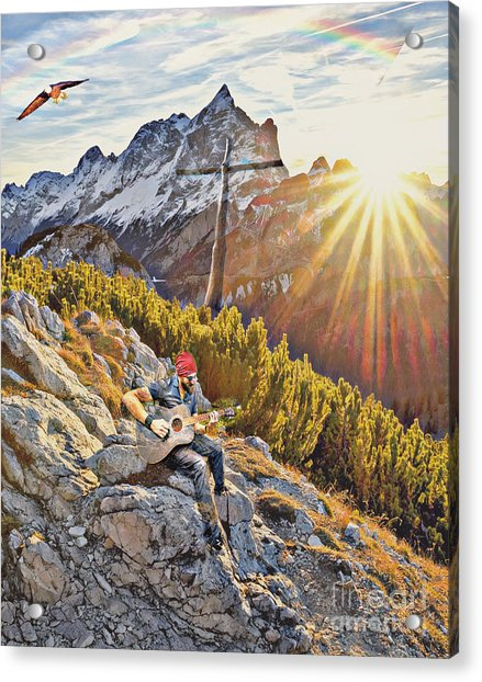 Mountain Of The Lord Acrylic Print