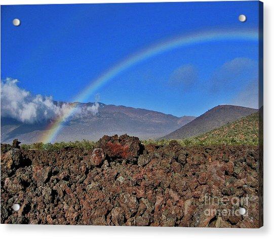 Mountain Rainbow Acrylic Print